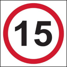 image of 15mph speed limit sign