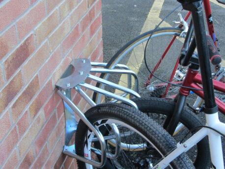 3 Section Adjustable Wall Mounted Cycle Rack