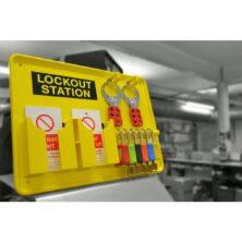 image of 5 padlock lockout station