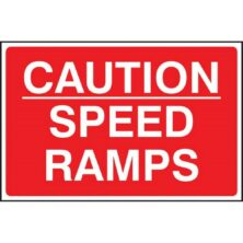 image of caution speed ramps sign