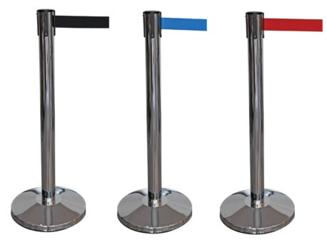 Chrome Post Belt Barriers - 2m Belt