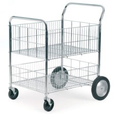 Chrome Wire Tray Trolley
