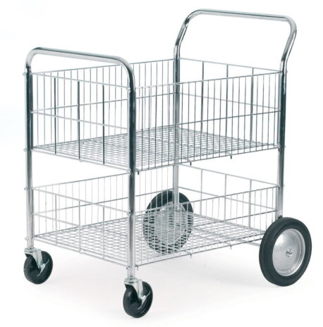 Chrome Wire Tray Trolley