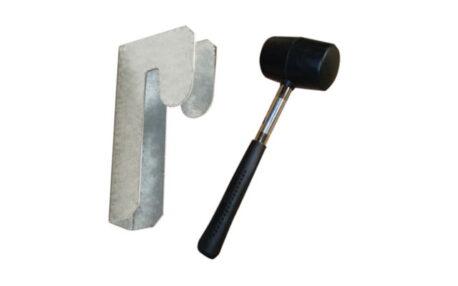 clicka shelving bay connector rubber mallet