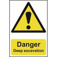 image of danger deep excavation sign