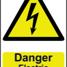 Danger Electric Shock Risk Sign