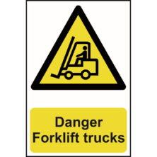 image of danger forklift trucks sign