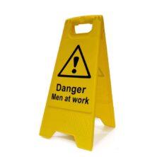 image of danger men at work a-board