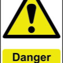 Danger Men at Work Sign