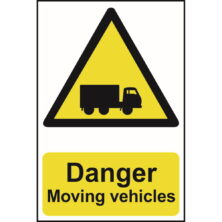 image of danger moving vehicles sign
