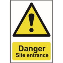 image of danger site entrance sign