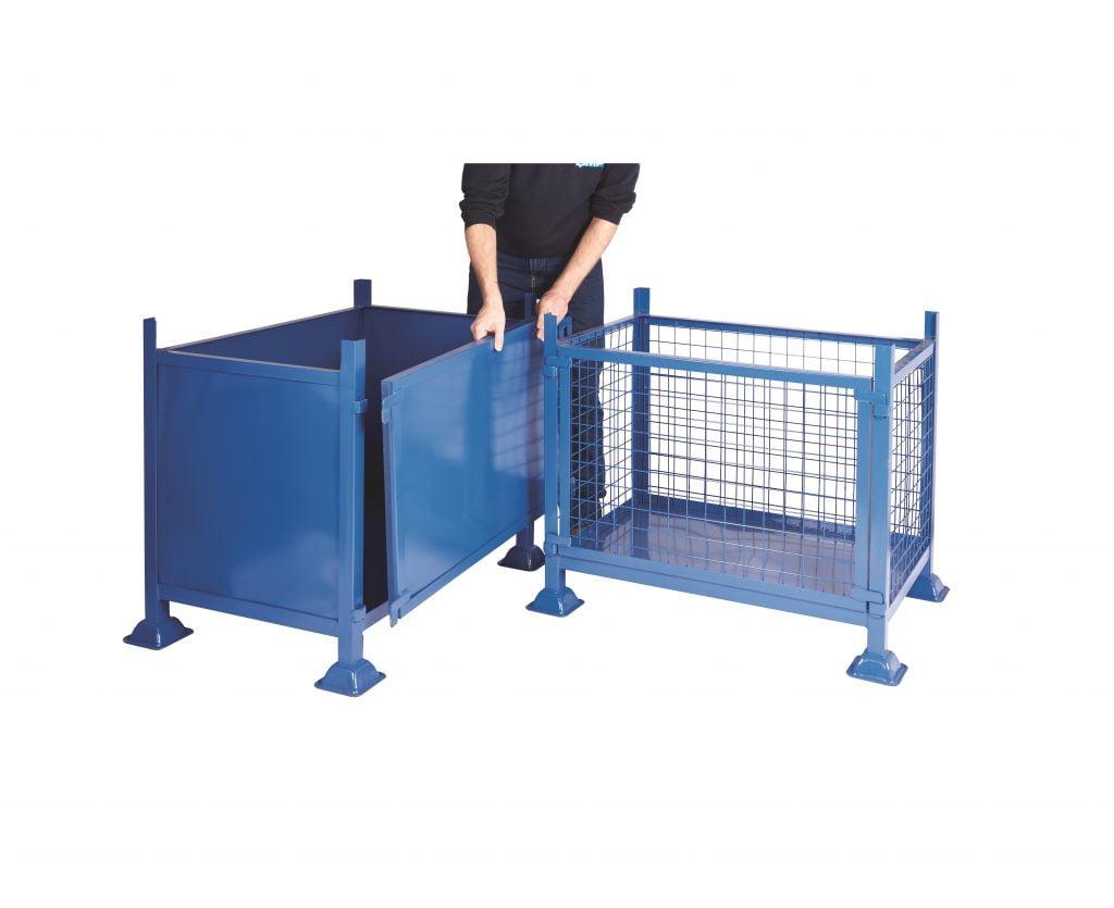Detachable Side Steel Pallets 1000kg Capacity