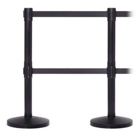 double belt retractable barriers