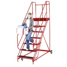 image of easy rise mobile safety steps with handlock anchorage