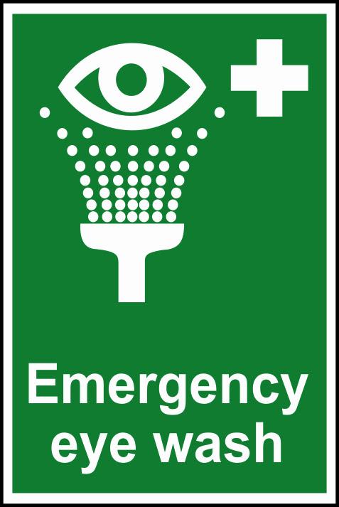 Emergency Eye Wash Sign Workplace Stuff