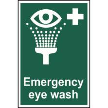 image of emergency eye wash sign