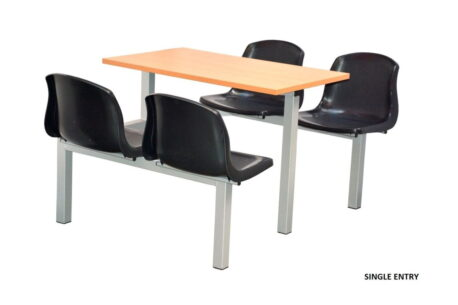 Fast Food Canteen Seating - 4 Seater