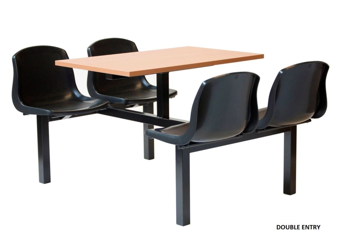 Fast food canteen seating 4 seater workplace stuff for Table snack cuisine