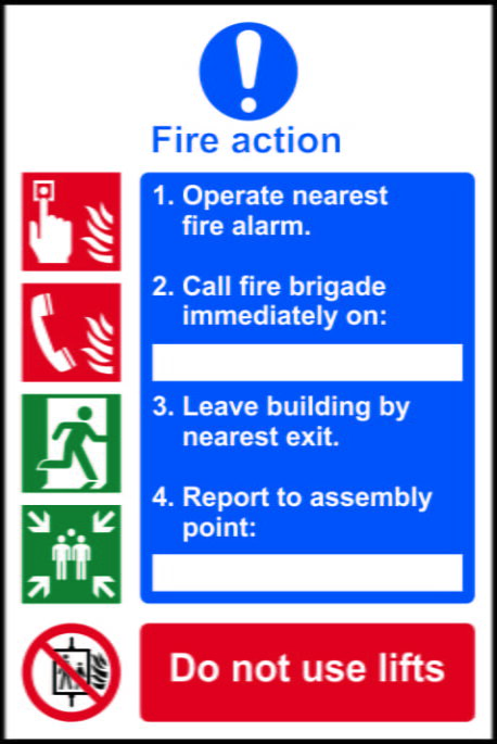 Fire Action Procedure Sign