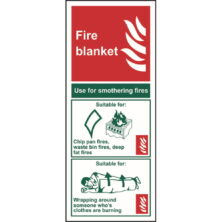 image of fire blanket sign