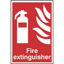 image of fire extinguisher sign