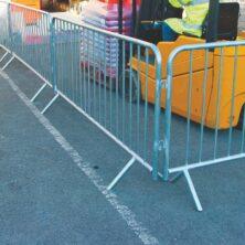 Galvanised Crowd Control Barriers