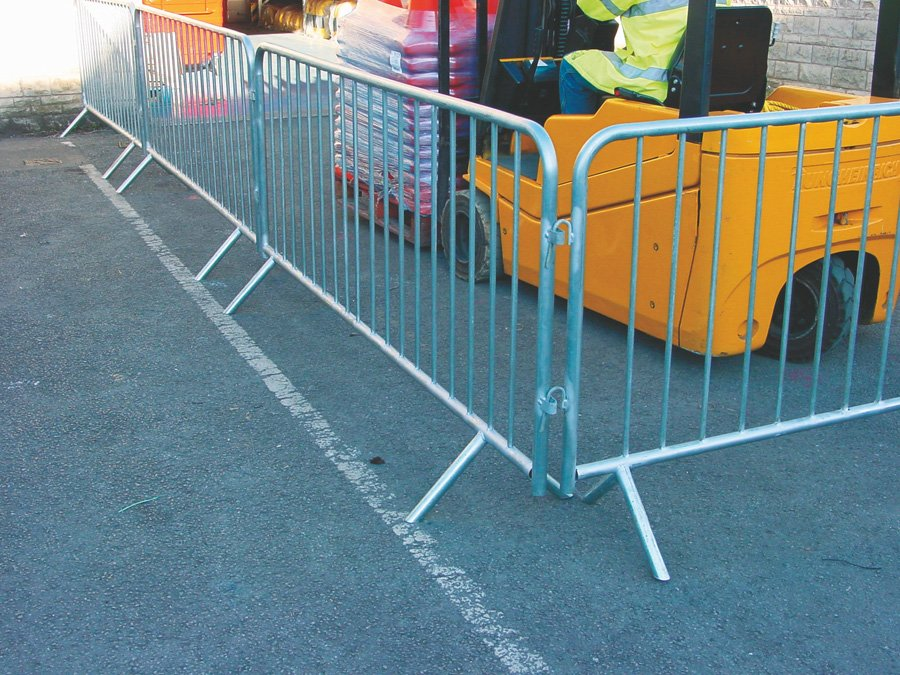 Galvanised Crowd Control Barriers