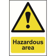 image of hazardous area sign