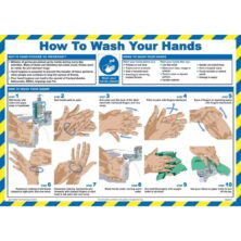 image of how to wash your hands sign