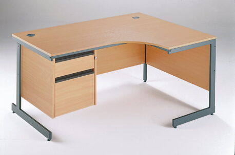 Maestro Ergonomic Desks With 2 Drawer Fixed Pedestal
