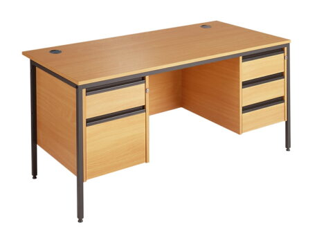Maestro Straight Desk With 2 & 3 Drawer Fixed Pedestals