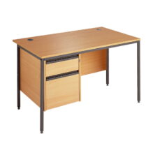 Maestro Straight Desk With 2 Drawer Fixed Pedestal