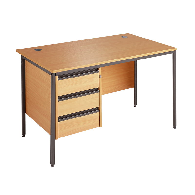 premium selection 84ae2 b6dca Maestro Straight Desk With 3 Drawer Fixed Pedestal