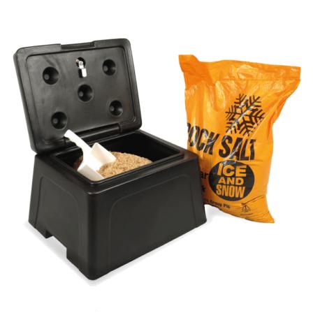 Mini Grit Bins with 25kg Salt and Scoop