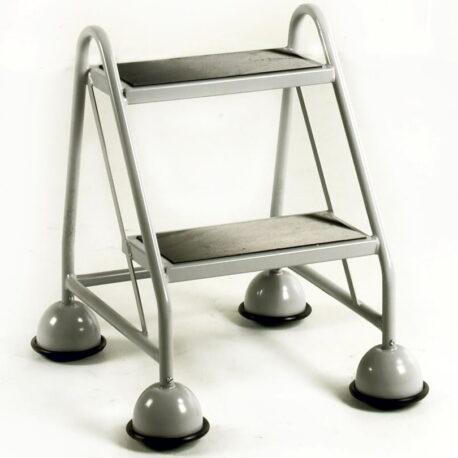 Mobile Steps - 2 Step, No Handrail