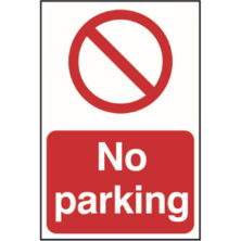 image of no parking sign