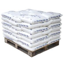 Pallets of White De-Icing Rock Salt - 25kg Bags