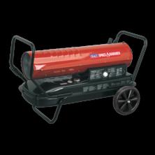 image of paraffin kerosene diesel space heater with wheels