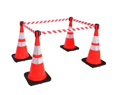 retractable cone barrier conepro