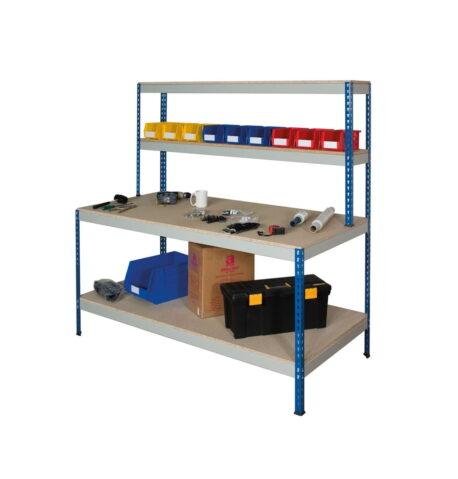 rivet chipboard workstation - full undershelf