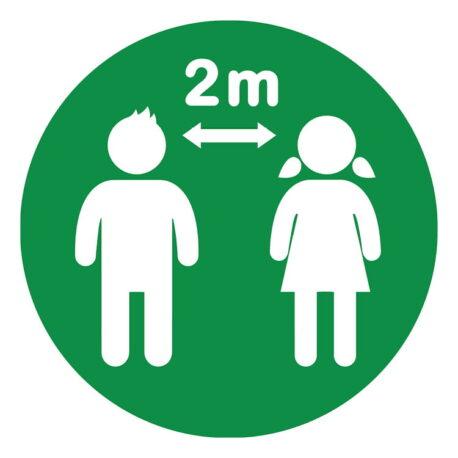 school-social-distance-floor-markers