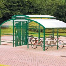 Secure Bike Storage Compound with Lockable Gate