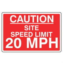 Site Speed Limit 20 Mph Safety Sign