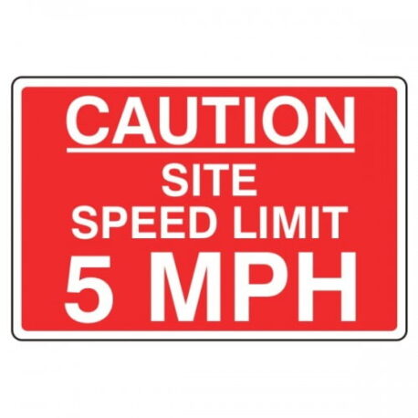 Site Speed Limit 5 Mph Safety Sign