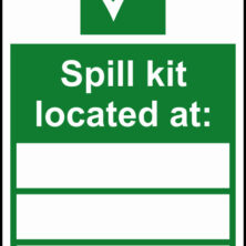 Spill Kit Located At Sign