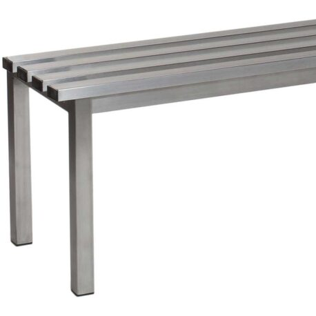 Stainless Steel Basic Freestanding Changing Room Benches