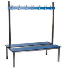 Stainless Steel Double Sided Changing Room Benches
