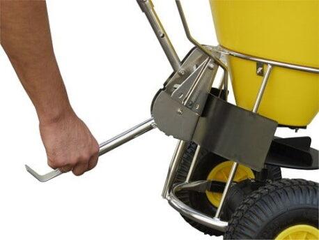Stainless Steel Hand Push Salt Grit Spreader - 50 Litre Capacity