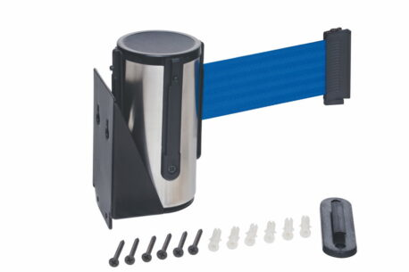 Stainless Steel Wall Mounted Belt Barrier - 2.5m Belt