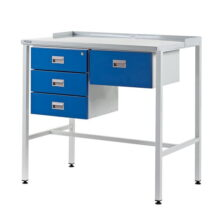 Team Leader Workstation with Triple Drawer Unit & Single Drawer